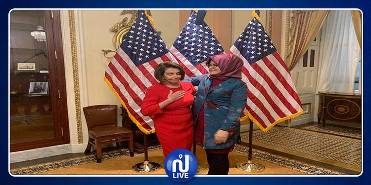 خطيبة خاشقجي تلتقي رئيسة مجلس النواب الأمريكي