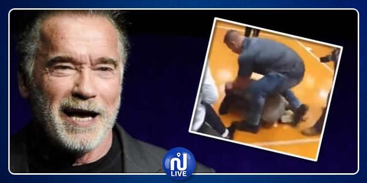 هل سيقاضي أرنولد شوارزنيغر من اعتدي عليه وأسقطه أرضا ؟