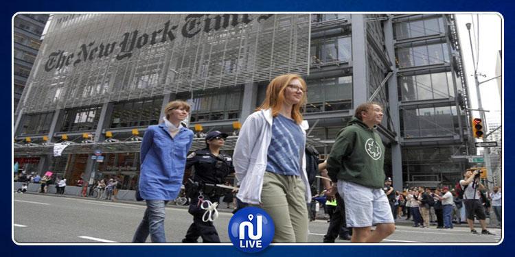 نيويورك: اعتقال محتجين على تغير المناخ