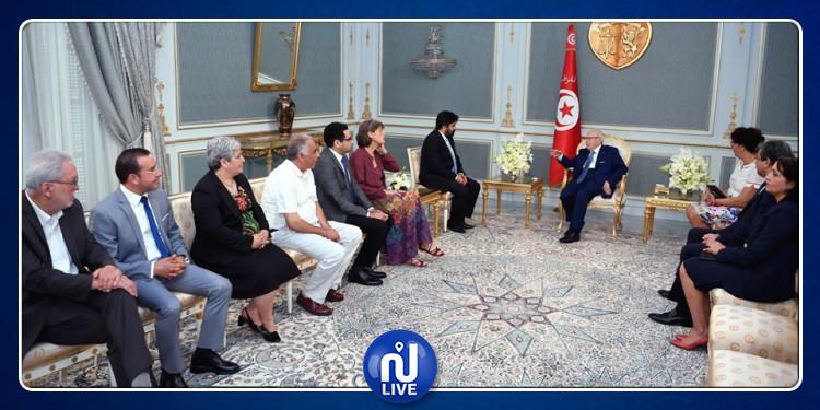 فحوى لقاء رئيس الجمهورية بوفد من الشبكة الأورو متوسطية لحقوق الإنسان