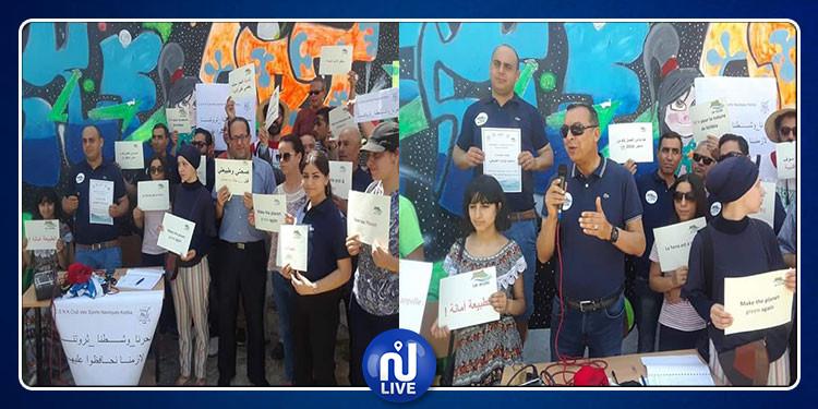قليبية : وقفة احتجاجية  تنديدا بالوضع البيئي المتردي (صور)