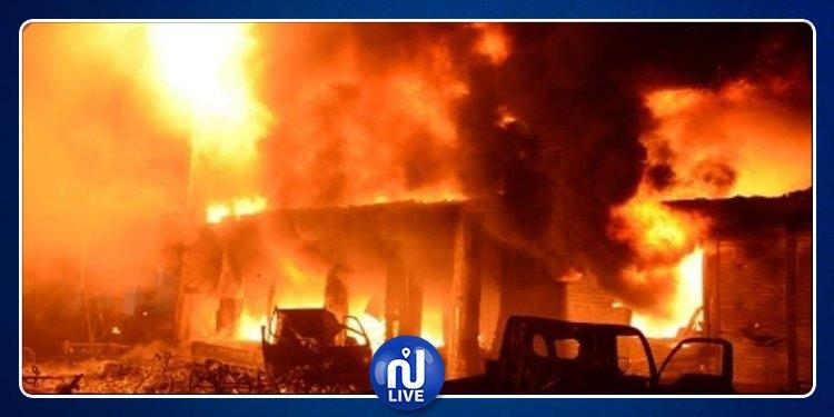 بعد 20 ساعة: إخماد حريق بمصنع الملابس المستعملة في المرناقية