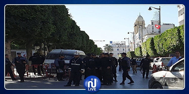 إجراءات أمنية مشددة في شارع الحبيب بورقيبة
