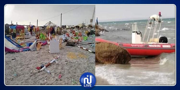 عاصفة بشواطئ المنستير (صور)