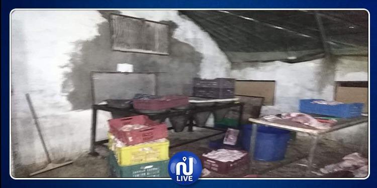 مداهمة مذبح عشوائي بمدينة اكودة