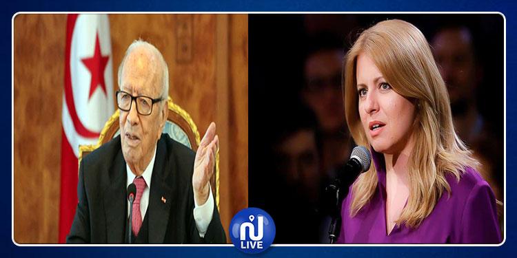 رئيسة سلوفاكيا: الباجي قايد السبسي سيبقى في ذاكرة الشعب التونسي