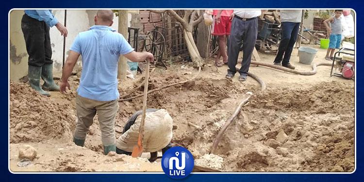 الصوناد: تجهيزات بدائية وملابس مهترئة لإصلاح عطب في الرقاب (صور)
