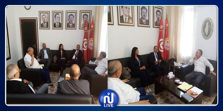 إتحاد الشغل يلتقي وفدا عن حزب ''قلب تونس''