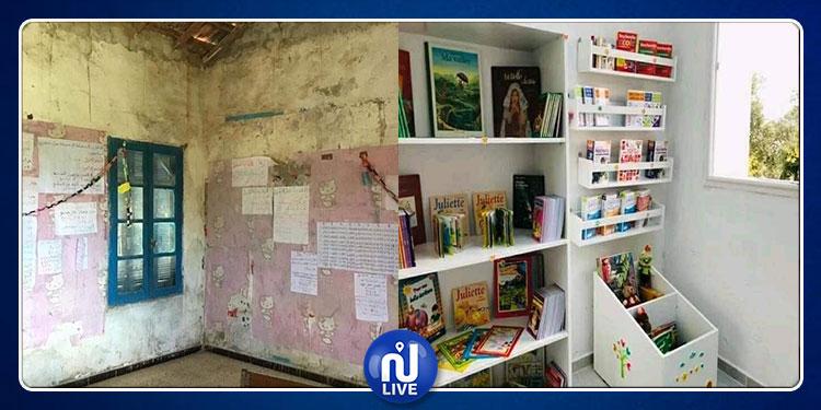غار الدماء: جمعية ''ابتسامة طفل'' تتكفل بصيانة مدرسة البياضة (صور)
