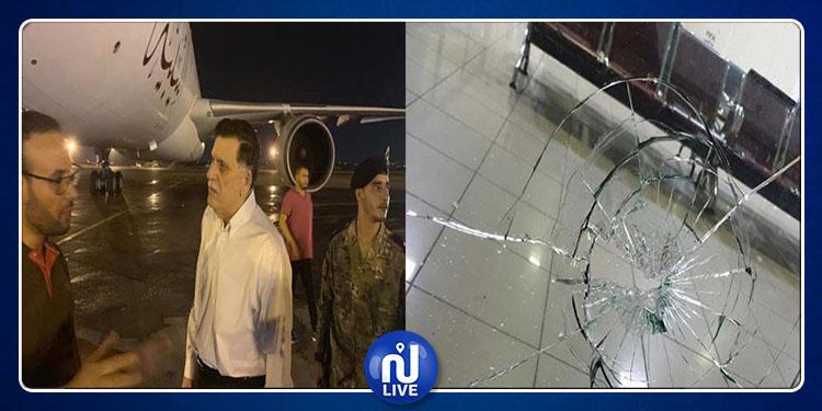 ليبيا: قصف مطار معيتيقة الدولي (صور)