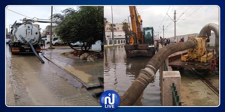 ديوان التطهير يتدخل لإزالة مخلفات السيول