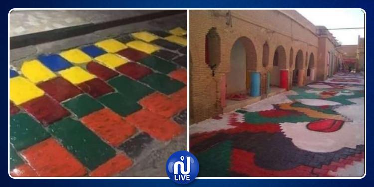 وزارة الثقافة تندد بتلوين المعالم الأثرية