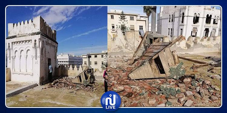 صفاقس : انهيار جزء من صومعة قصر بن رمضان جراء الأمطار