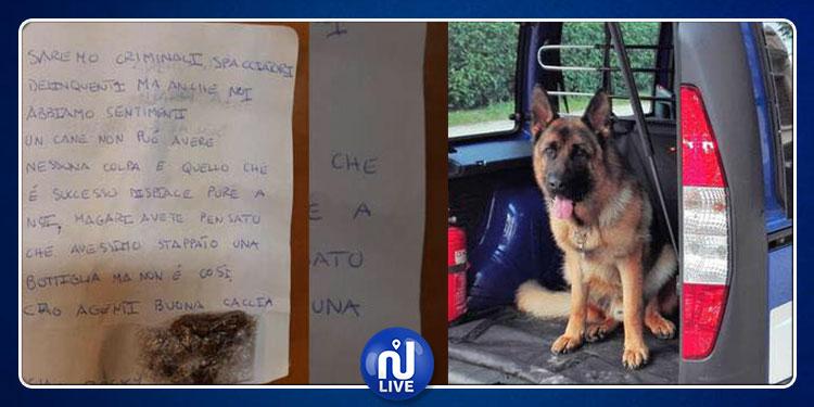 إيطاليا: تجار مخدرات يعزون الشرطة بعد وفاة كلب ويواسونها بكيس ''حشيش''
