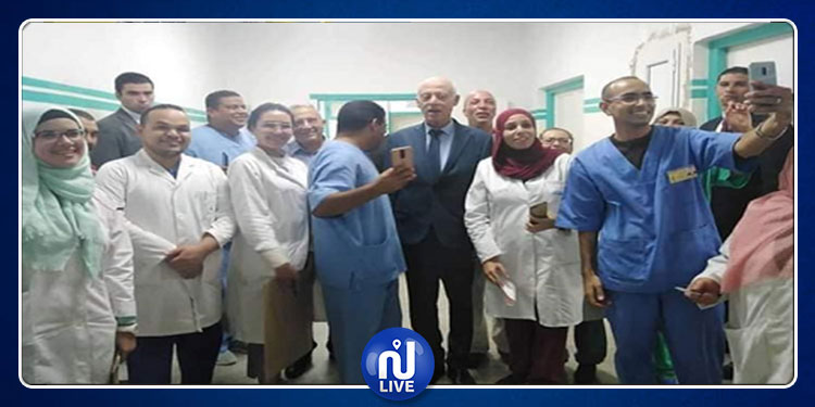 رئيس الجمهورية يزور المستشفى العسكري