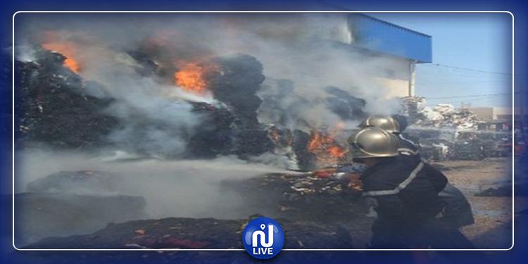 نابل: نشوب حريق هائل في مخزن ''للفريب''