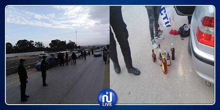العاصمة: حجز غاز مشل للحركة ومشروبات كحولية