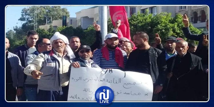 القصرين: عدد من جرحى الثورة ينظمون وقفة احتجاجية