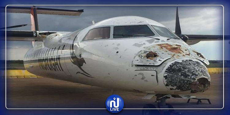 رغم الدمار: هذه الطائرة تحط بسلام وعلى متنها 41 راكبا (صور)