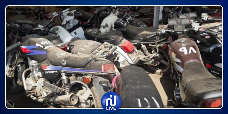 المكنين: عصابة تبيع دراجات نارية مسروقة بعد طلائها وتغيير قطاع غيارها