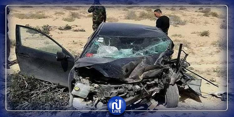 حادث مرور بين قبلي و توزر يسفر عن وفاة عسكري وإصابة شرطي و عون حرس