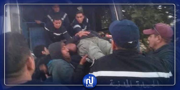 قفصة: حادث مرور بين حافلة المجمع الكيميائي وجرار(صور)