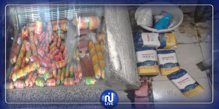 حجز مواد غذائية فاسدة بمحلات في حمام سوسة