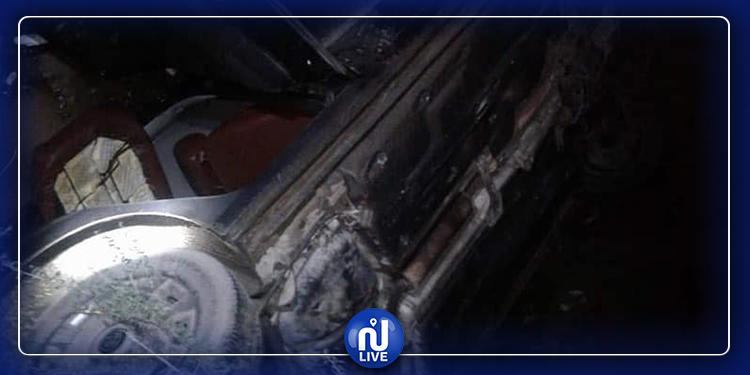 هرقلة: إصابة فتاتين بجروح في انزلاق سيارة من علو 12 مترا(صور)