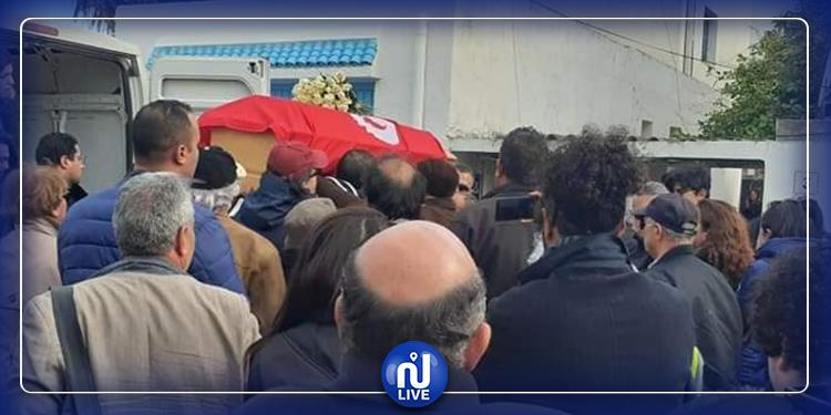تشييع جثمان لينا بن مهني بمقبرة الجلاز