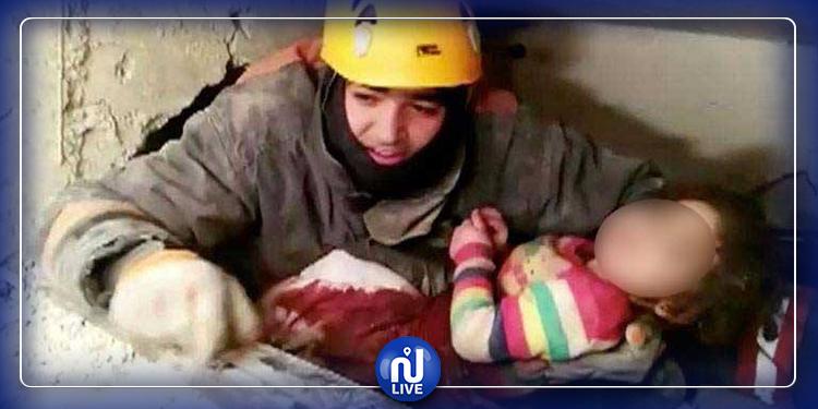 إنقاذ طفلة العامين من تحت الأنقاض بعد يومين من زلزال تركيا