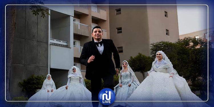 تحقيقا لرغبة والدته: شاب يتزوج من 4 نساء في يوم واحد