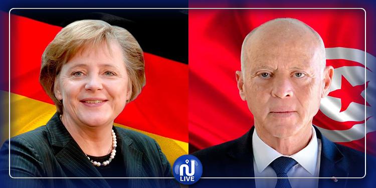 La situation en Libye au centre de l'entretien téléphonique entre Saied et Merkel