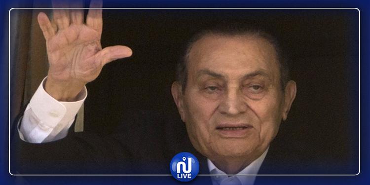 أول ظهور لحسني مبارك وحفيده بعد خضوعه لعملية جراحية(صور)
