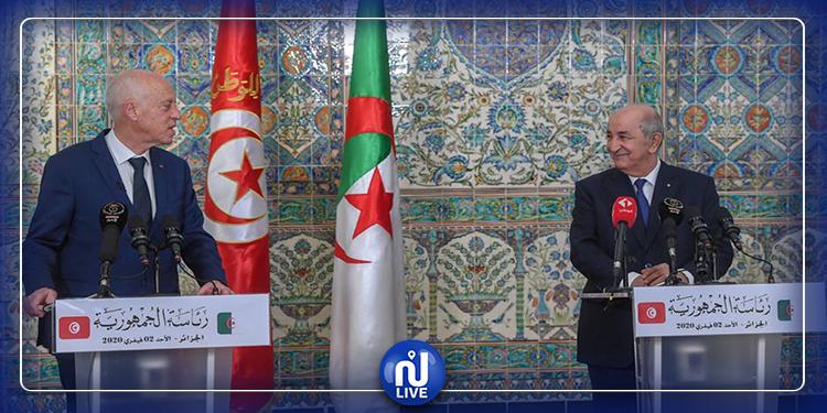 خلال لقائه سعيد: تبون يعلن إيداع 150 مليون دولار بالبنك المركزي التونسي