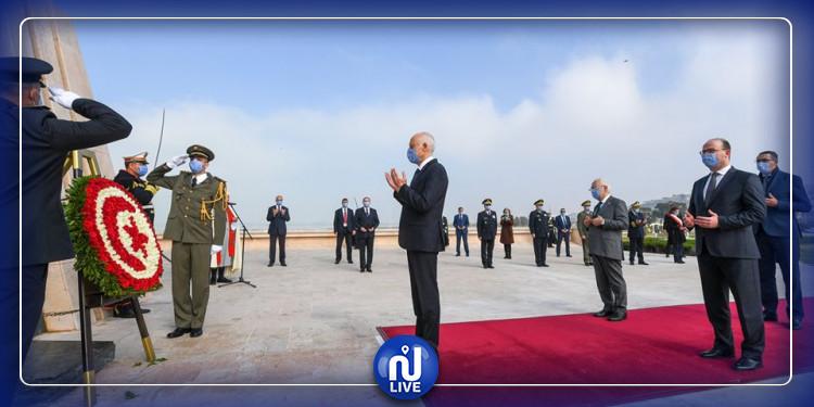 رئيس الجمهورية يشرف على موكب إحياء ذكرى احداث 9 أفريل