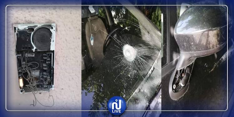 الكاف:اعتداء بالحجارة على سيارة الوكيل العام بمحكمة الاستئناف(صور)