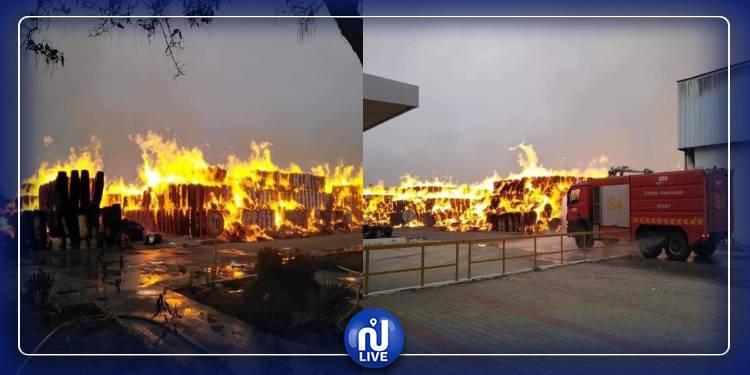 حريق مصنع النفيضة تحت السيطرة