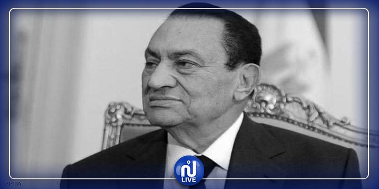 صورة نادرة تجمع  بين مبارك وحفيده الراحل
