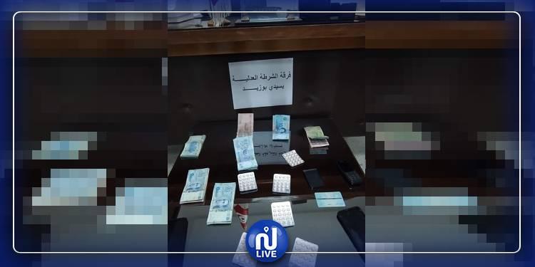 سيدي بوزيد: العثور على أكثر من 100 قرص مخدر داخل سيارة