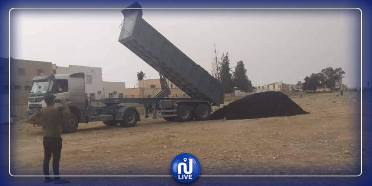 سيدي بوزيد: احتجاز شاحنة محملة بالفسفاط