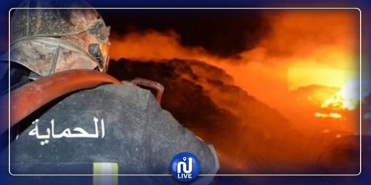 Sfax : un incendie se déclare dans une usine de plastique