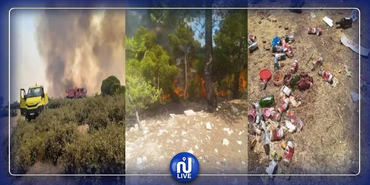 الكاف:نشوب حريق ثالث بجبل الحزيم من معتمدية ساقية سيدي يوسف