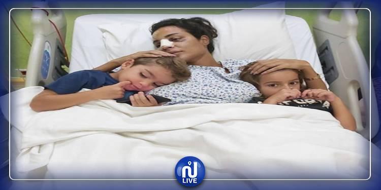 بعد اصابتها..اول صورة لنادين نجيم من داخل المستشفى
