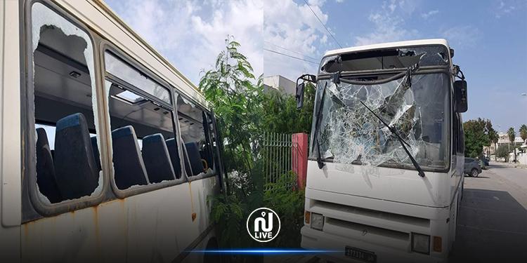 نابل: تهشيم حافلة جمعية أطفال التوحد(صور)