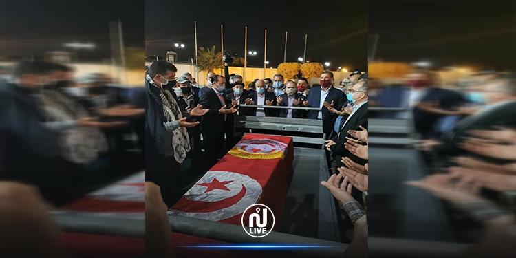 جثمان بوعلي المباركي يصل إلى تونس