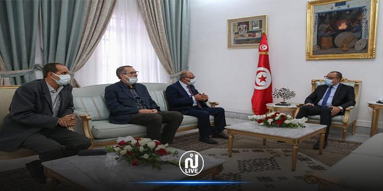 المشيشي  يستقبل وفدا عن الرابطة التونسية للدفاع عن حقوق الإنسان