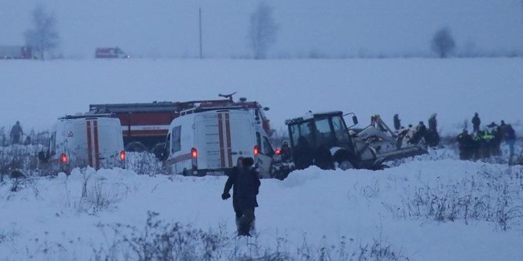 الطائرة الروسية المنكوبة: العثور على الصندوق الأسود وبحث متواصل عن الضحايا