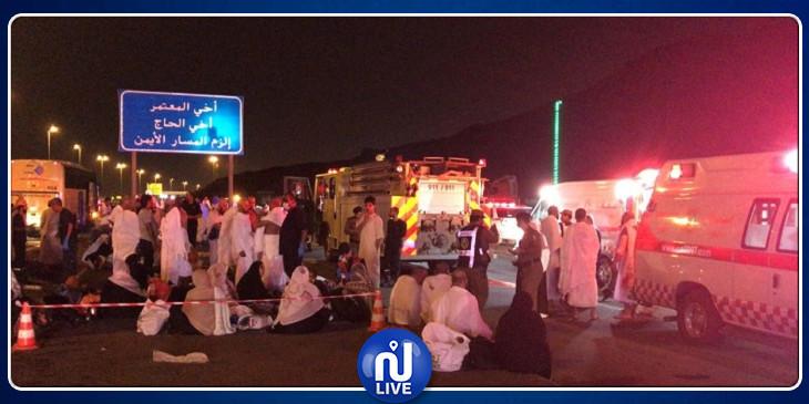 السعودية: إصابة 26 معتمرا في حادث تصادم