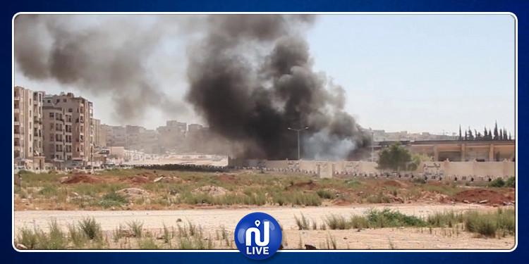 انفجار مستودع ذخيرة للجيش السوري