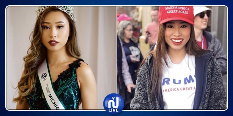 تجريد ملكة جمال أمريكا من لقبها والسبب الحجاب !